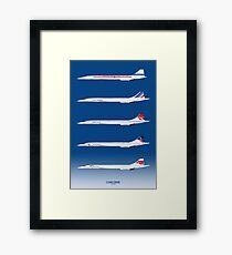 Concorde 1969 To 2003 Framed Print