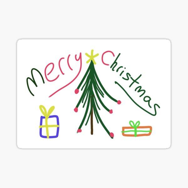 Minimalist Christmas Card Sticker