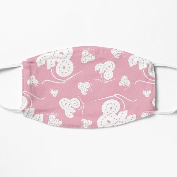 Stitched Ampersand - Light Pink Flat Mask