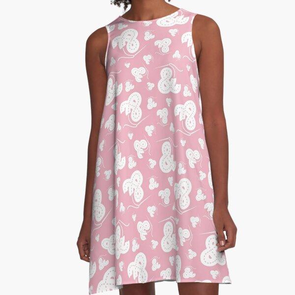 Stitched Ampersand - Light Pink A-Line Dress