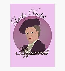 Lady Violet Approved Photographic Print