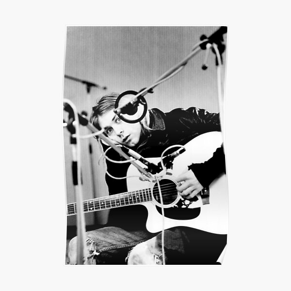 KurtCobain Playing Guitar Poster