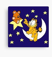 Garfield and Bear Canvas Print