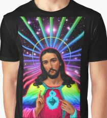 Neon Jesus Christ Graphic T-Shirt