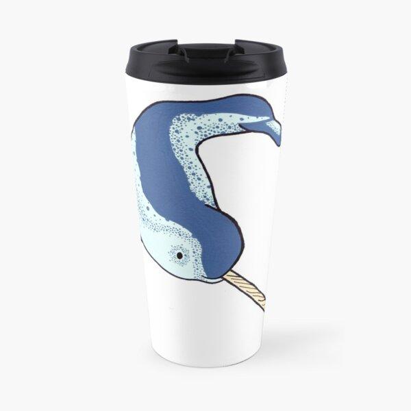 Cute Happy Narwhal Travel Mug