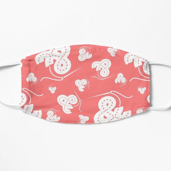 Stitched Ampersand - Pink Flat Mask