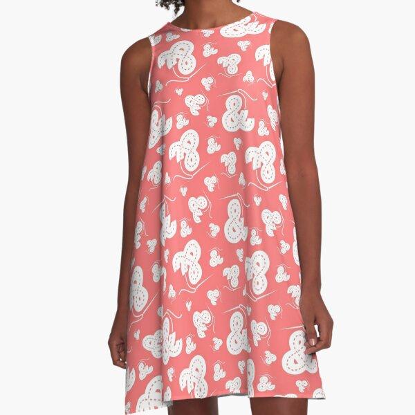 Stitched Ampersand - Pink A-Line Dress
