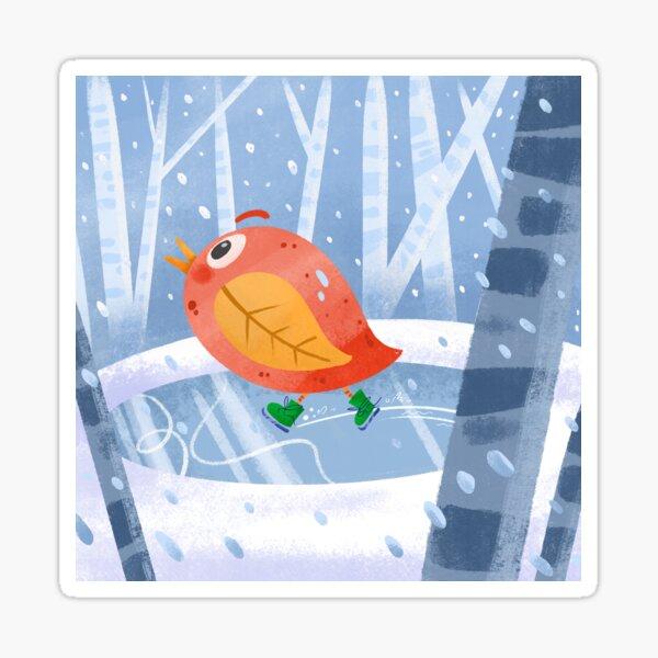 Autumn Winter Bird  Sticker