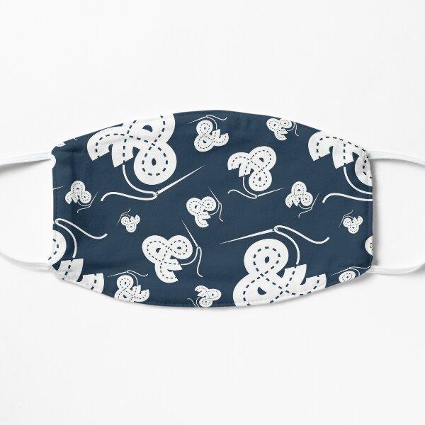 Stitched Ampersand - Navy Flat Mask
