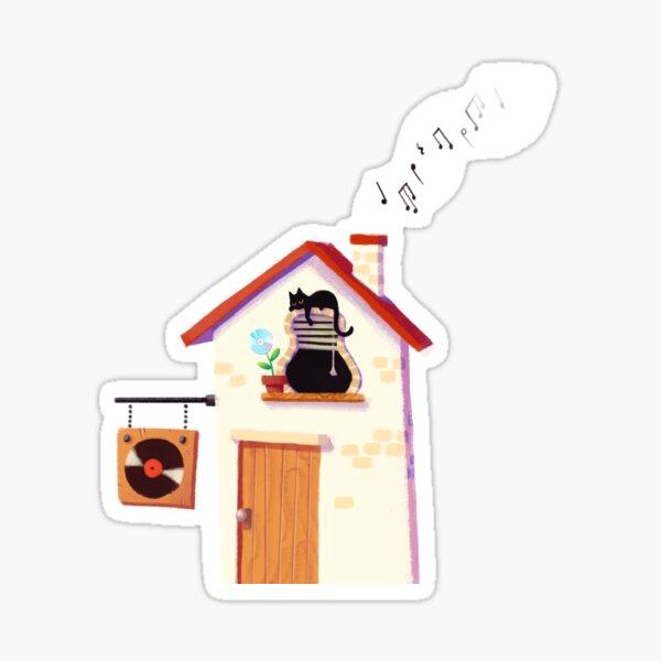 Musical house Sticker