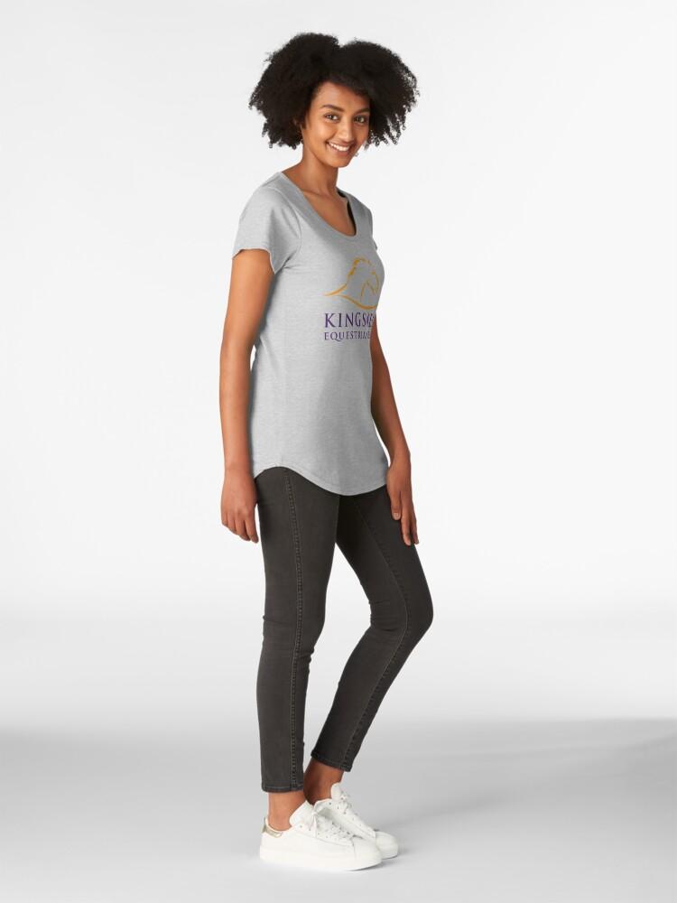 Alternate view of Kingsmead Equestrian Merchandise Premium Scoop T-Shirt