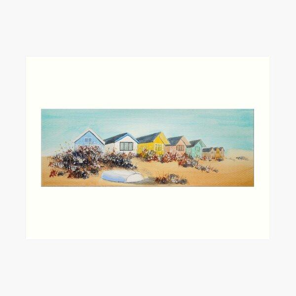 Beach Huts - Mudeford Spit, Christchurch, Dorset  Art Print