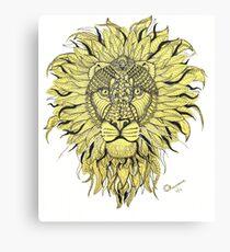 Mufasa White Canvas Print