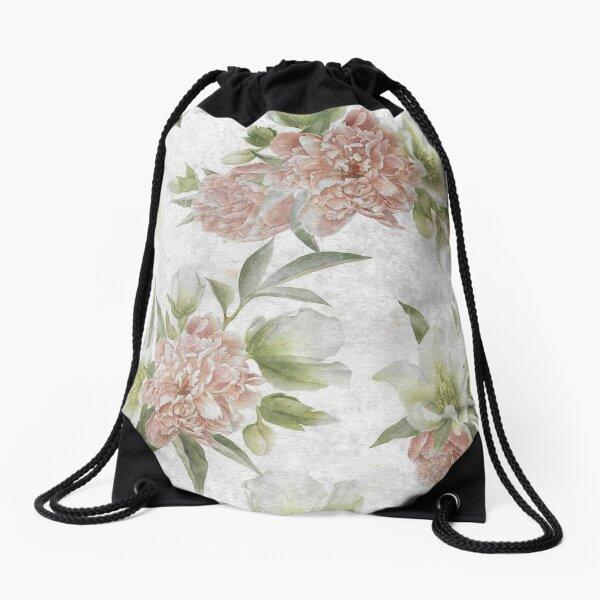 Vintage Flower Drawstring Bag