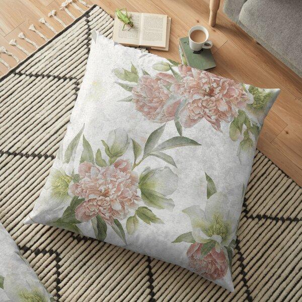 Vintage Flower Floor Pillow