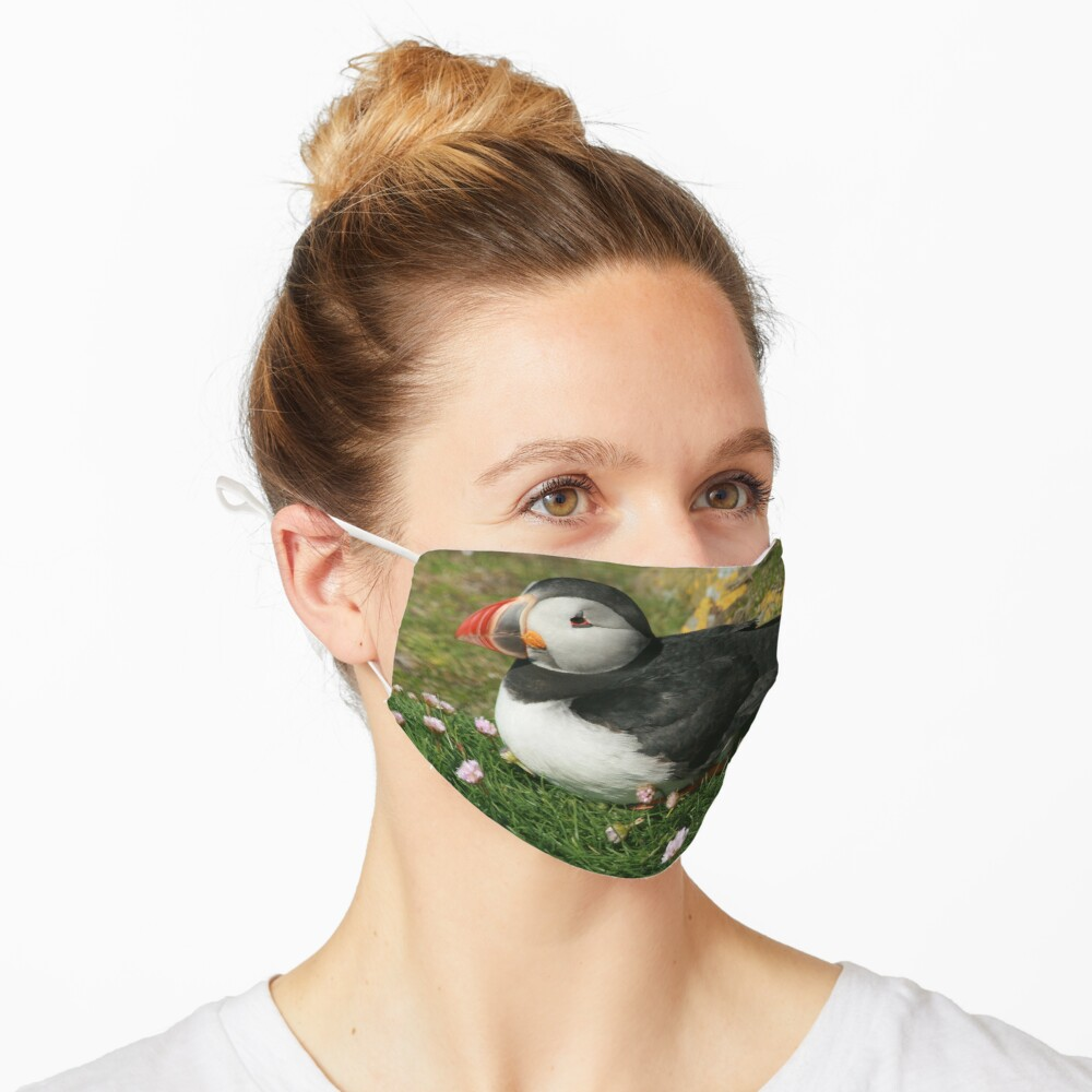 Puffin in the pinks Mask