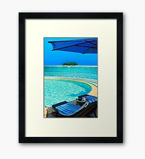 The Maldives - romantic atoll island paradise with luxury resort  Framed Print