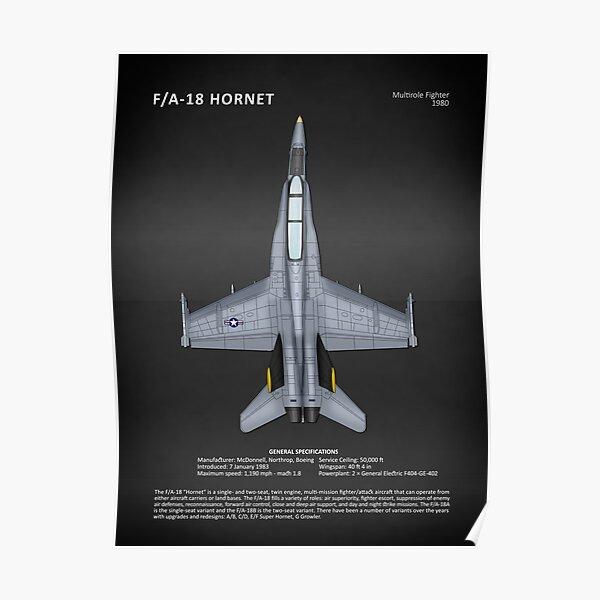 The FA-18 Hornet Poster