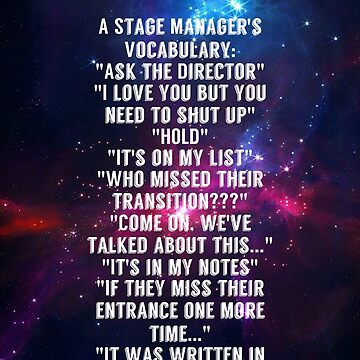 stage manager vocab by AbbyKetchum17