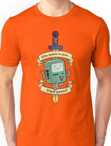 Beemo - Wanna Play Video Games? Unisex T-Shirt