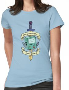 Beemo - Wanna Play Video Games? Womens Fitted T-Shirt