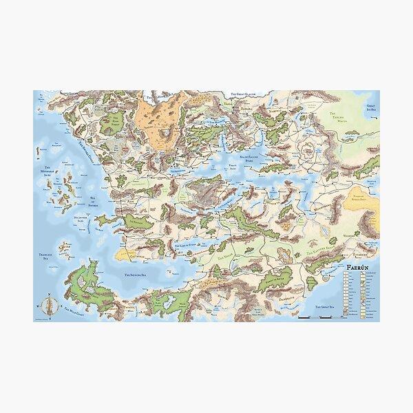 Forgotten Realms map (3.5e) Photographic Print