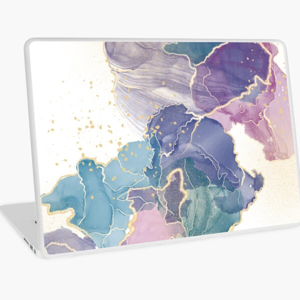Colorful Alcohol Ink Art  Laptop Skin