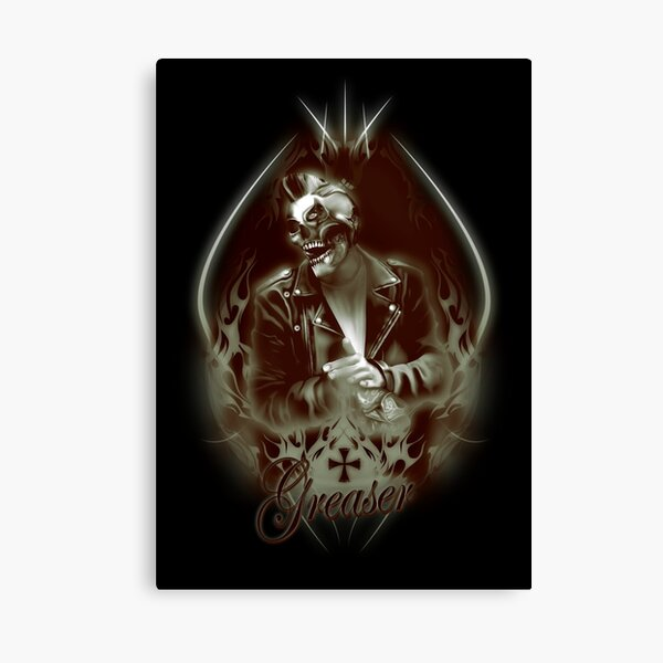 Psychobilly Crazy  Greaser Canvas Print