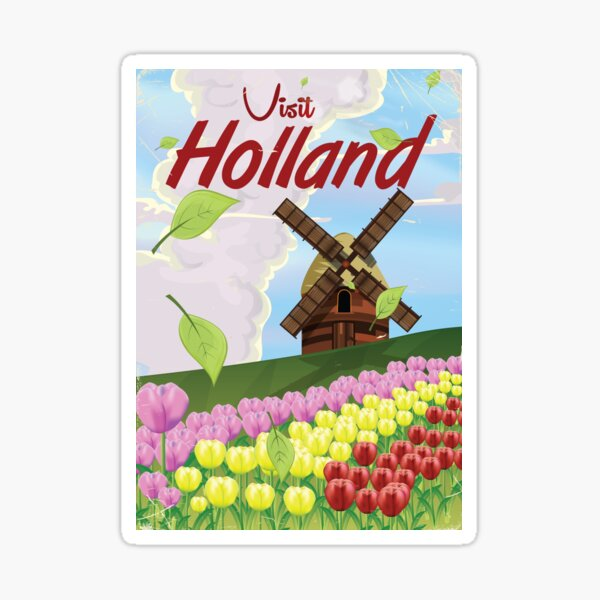 Holland vintage travel poster Sticker