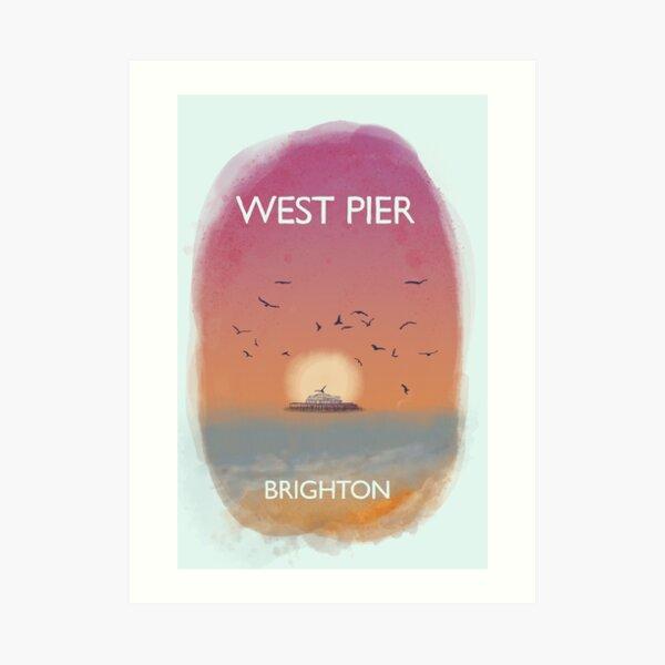 A5 Fine Art Print Watercolour The West Pier