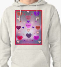 Candy Hearts by Diamante Lavendar Pullover Hoodie
