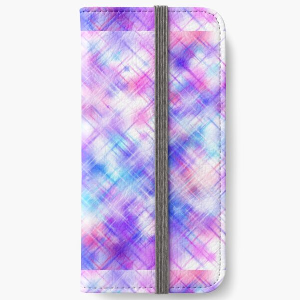 blue pink and purple sparkles iPhone Wallet