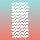 Chevron on Peach Echo and Limpet Shell Gradient by Alina Shevchenko
