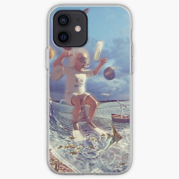 Einstein acuático Funda blanda para iPhone