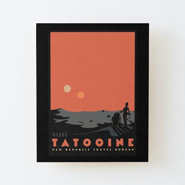 visiter tatooine Impression montée sur bois