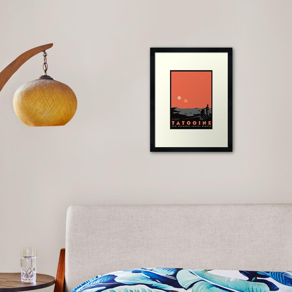visit tatooine Framed Art Print