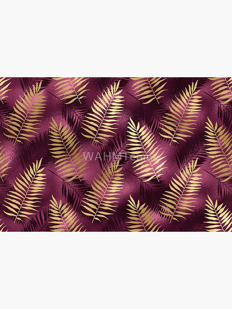 Burgundy and Gold Leaf Pattern by WAHMTeam