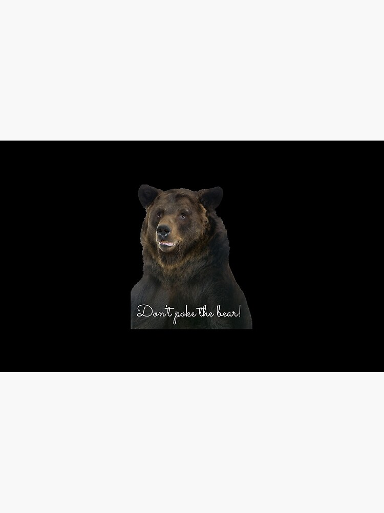 Don't Poke the Bear Humorous Wildlife Warning by kgerstorff