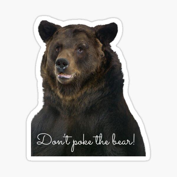 Don't Poke the Bear Humorous Wildlife Warning Sticker
