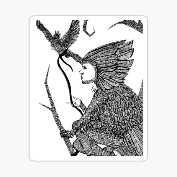 Bird King Sticker