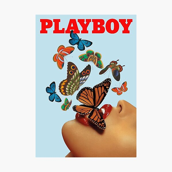 Playboy butterfly magazine cover  Photographic Print