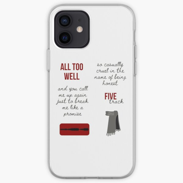 Taylor Swift RED Album All Too Well Sticker Pack iPhone Soft Case