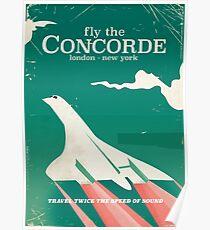 Concorde Vintage Urlaub Poster Poster
