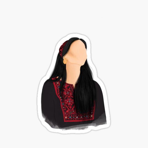 Palestinian thoub / toub / thawb woman Sticker
