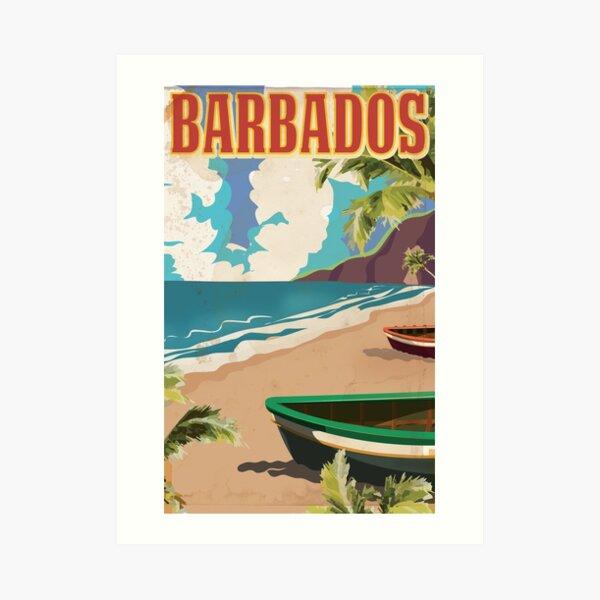 Barbados vintage travel poster Art Print