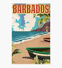 Barbados vintage travel poster Photographic Print