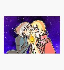 Howl, Sophie, and Calcifer Photographic Print