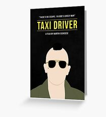 Taxi Driver film poster Greeting Card