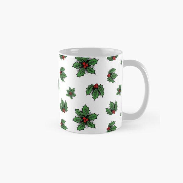 Winter Holly, White Classic Mug