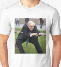 Boris Johnson takes part in a tug of war outside City Hall T-Shirt